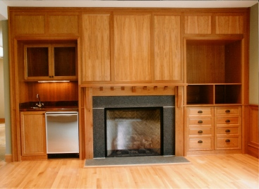 Cherry Built-In Cabinets