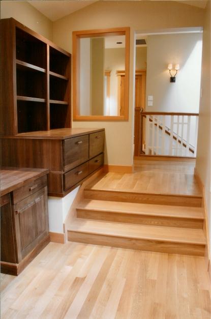 Hallway Walnut Built-Ins